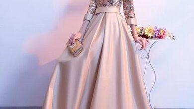 www.araas .ir 5 25 390x220 - مدل لباس شب پوشیده بلند / لباس مجلسی آستین دار شیک