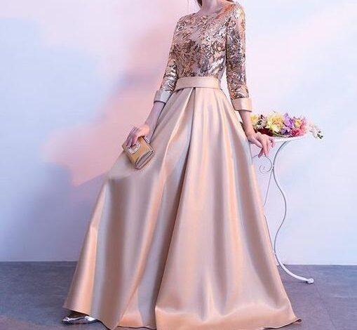 www.araas .ir 5 25 509x470 - مدل لباس شب پوشیده بلند / لباس مجلسی آستین دار شیک