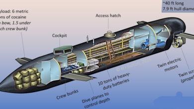 111 3 390x220 - زیردریایی های پیشرفته و الکتریکی کارتل های مواد مخدر برای قاچاق کوکایین