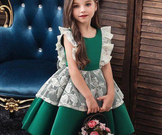 www.araas .ir 49 3 563x470 - مدل های زیبای پیراهن مجلسی دخترونه بچگانه شیک