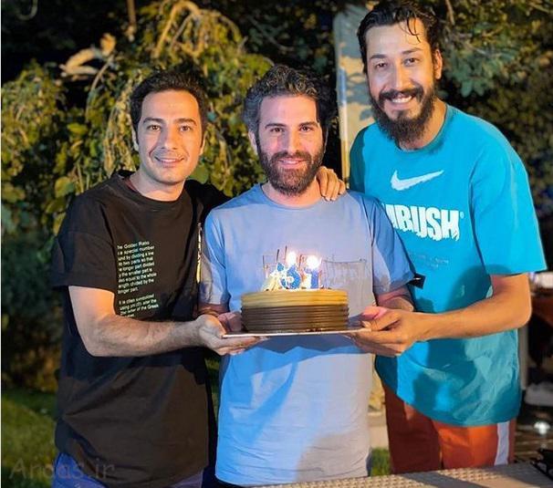 www.araas .ir 1 18 - عکس سالروز تولد هوتن شکیبا با دوستانش